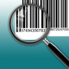 magnifying glass scanning bar code  made in 2d software