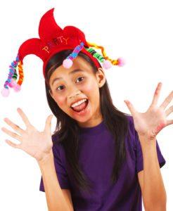 Girl Having Fun At A Party
